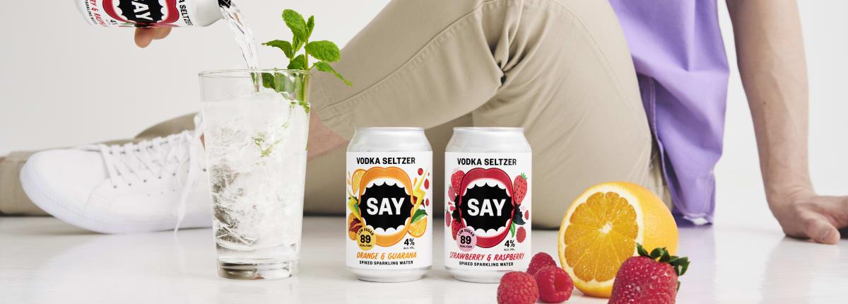 SAY Seltzer - keyart - sitting down