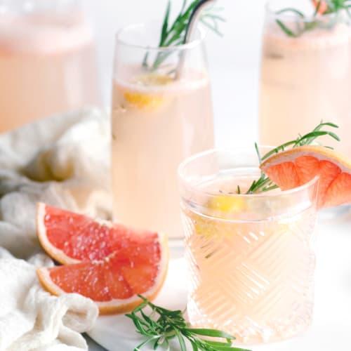 Anora brand image - grapefruit drinks