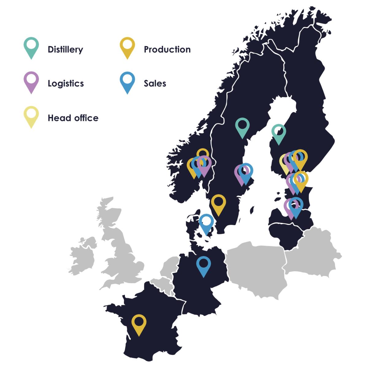 Anora locations - map EN