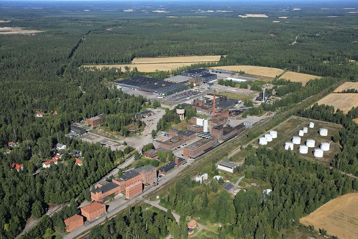 Rajamäki plant area, including beverage plant, logistic centre and technical ethanol plant