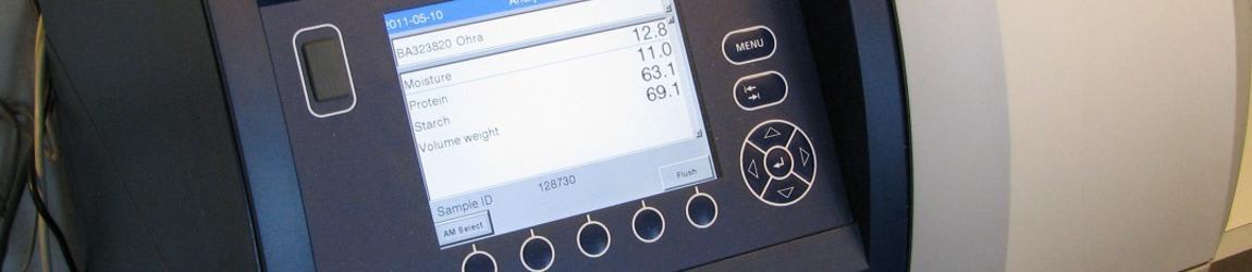 Barley quality is analyzed with Infratec analyzer