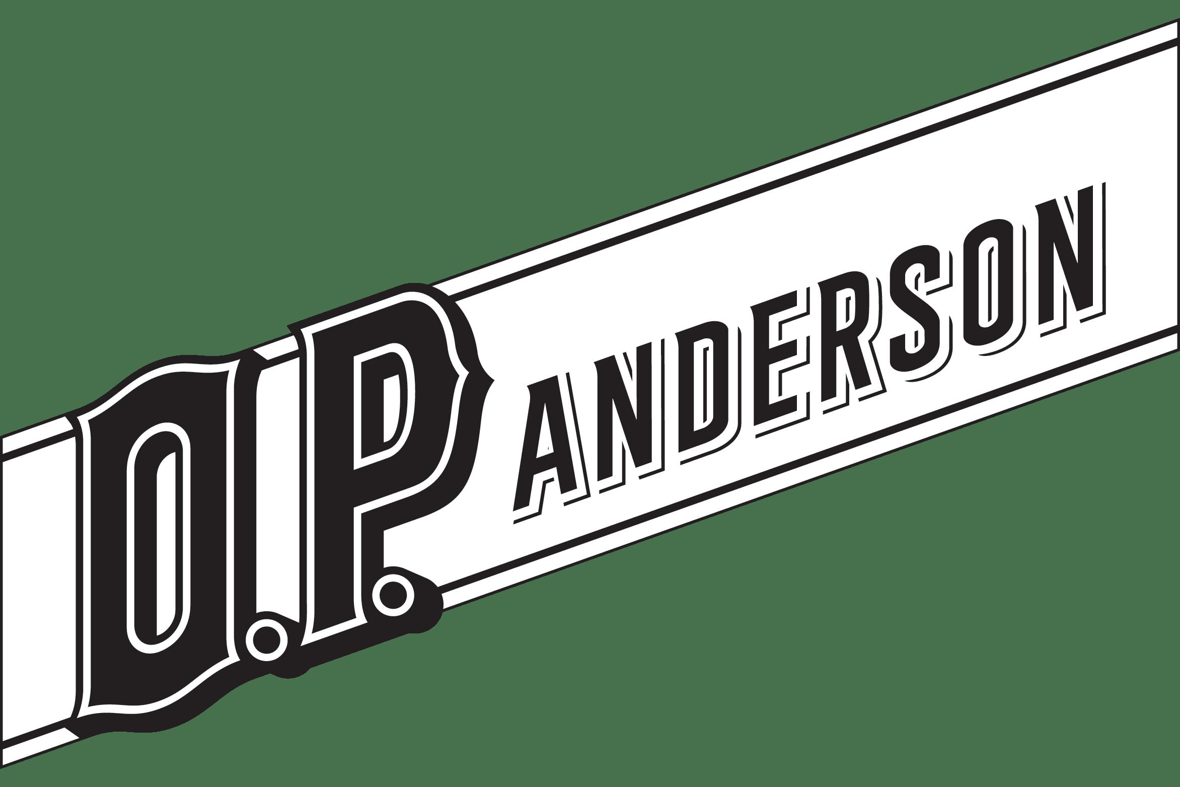 O.P Anderson white logo
