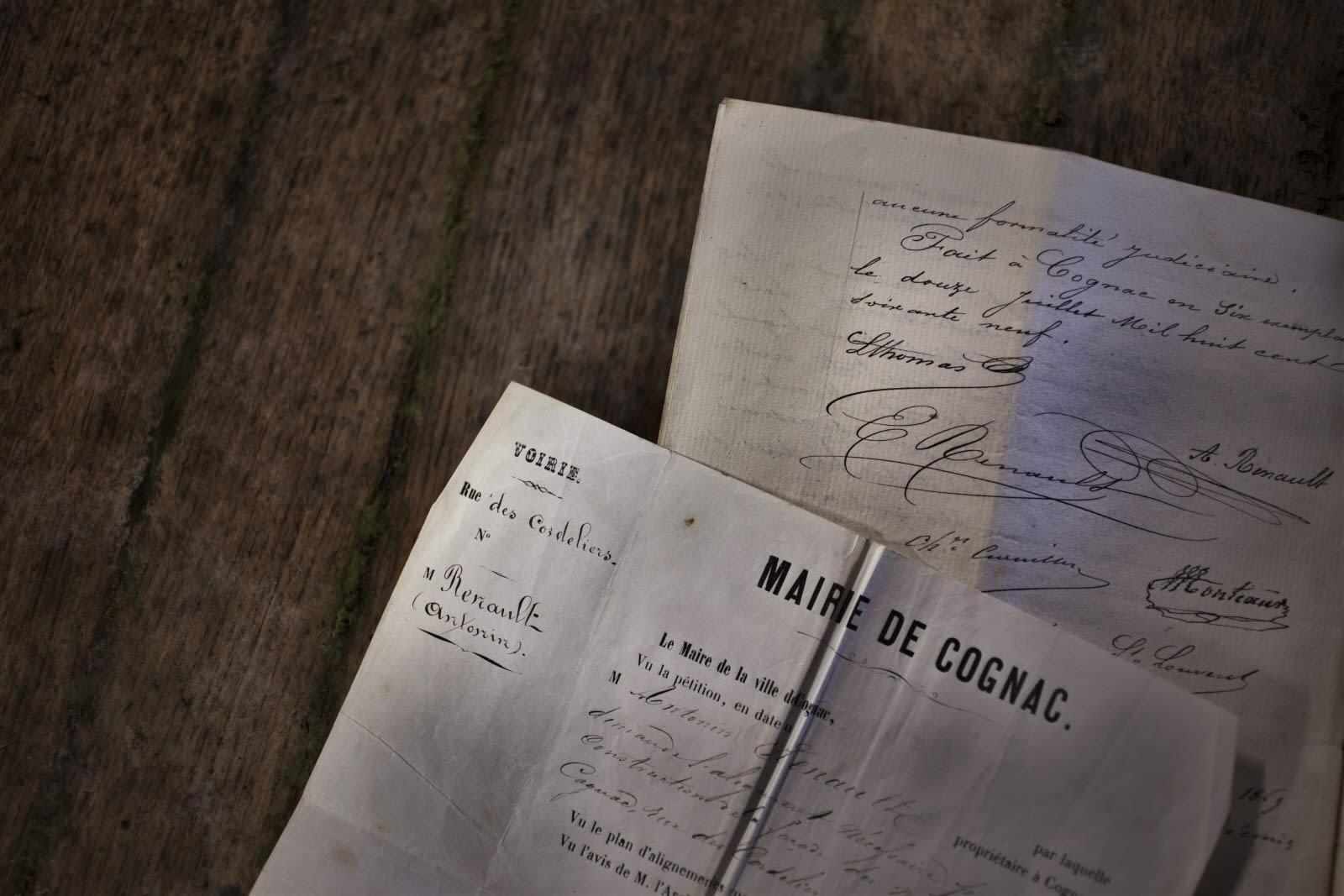 Cognac recipe in old paper