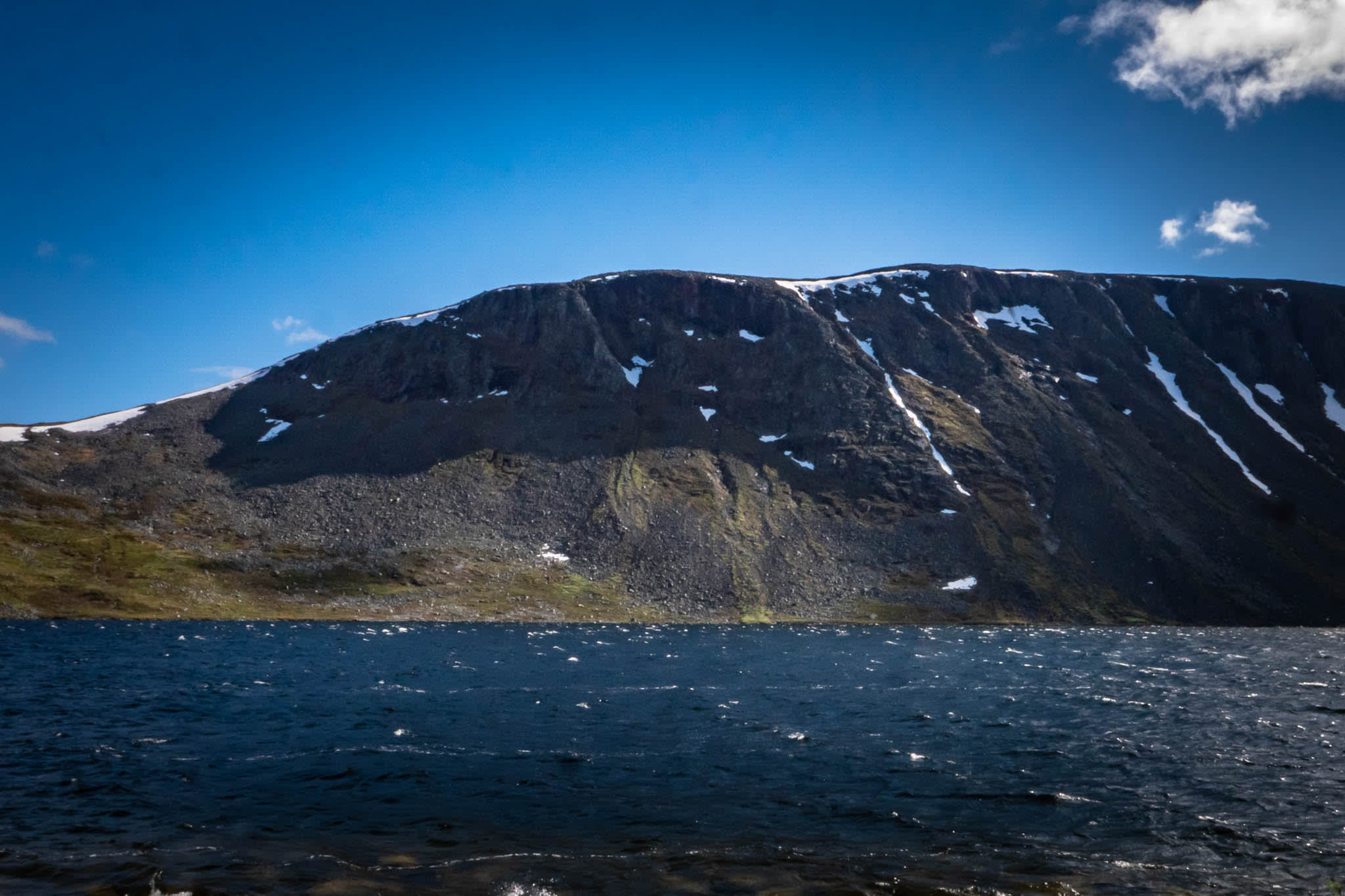 Nordic Nature view with Mountain and Sea