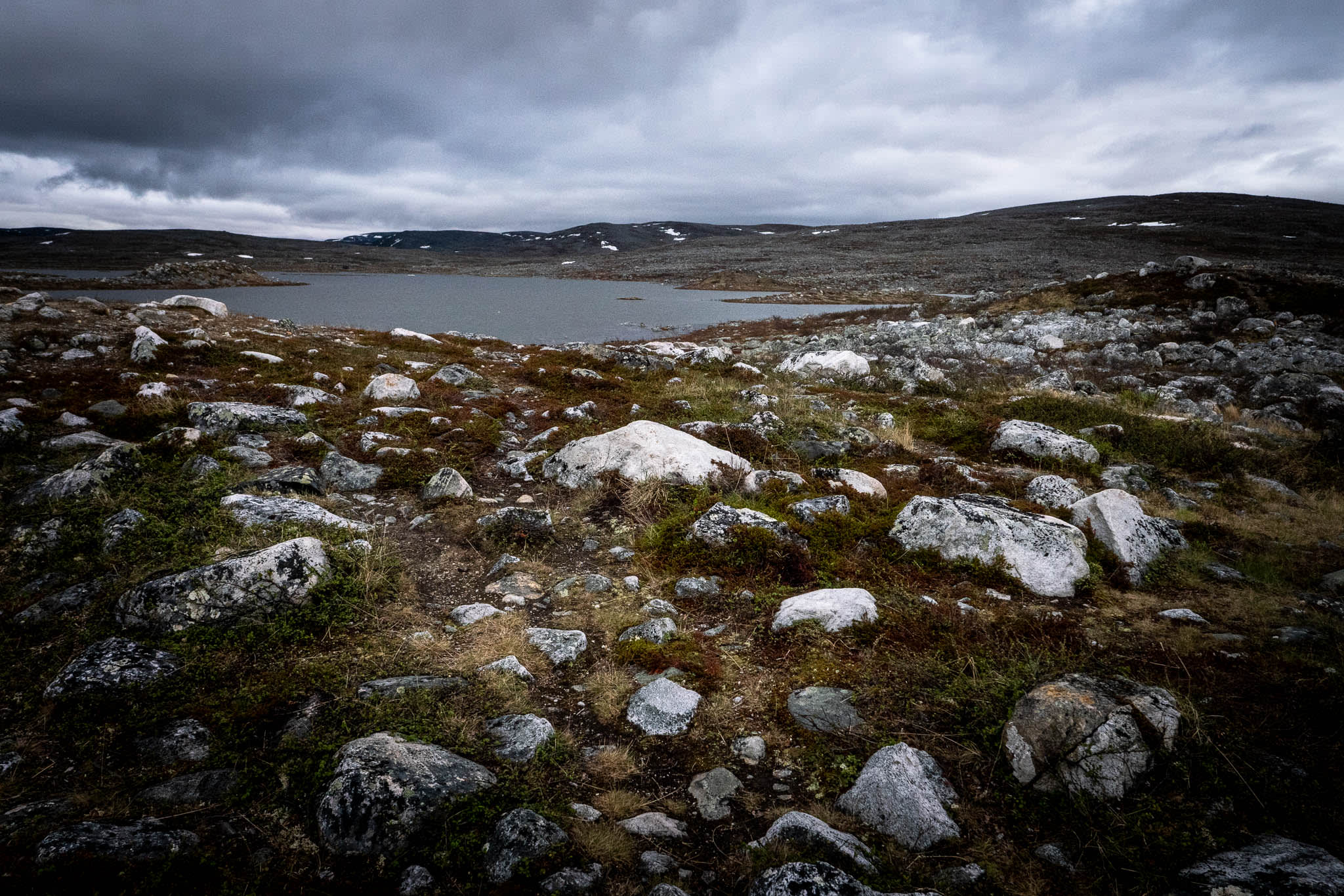 Nordic Nature with Rocks and Lake