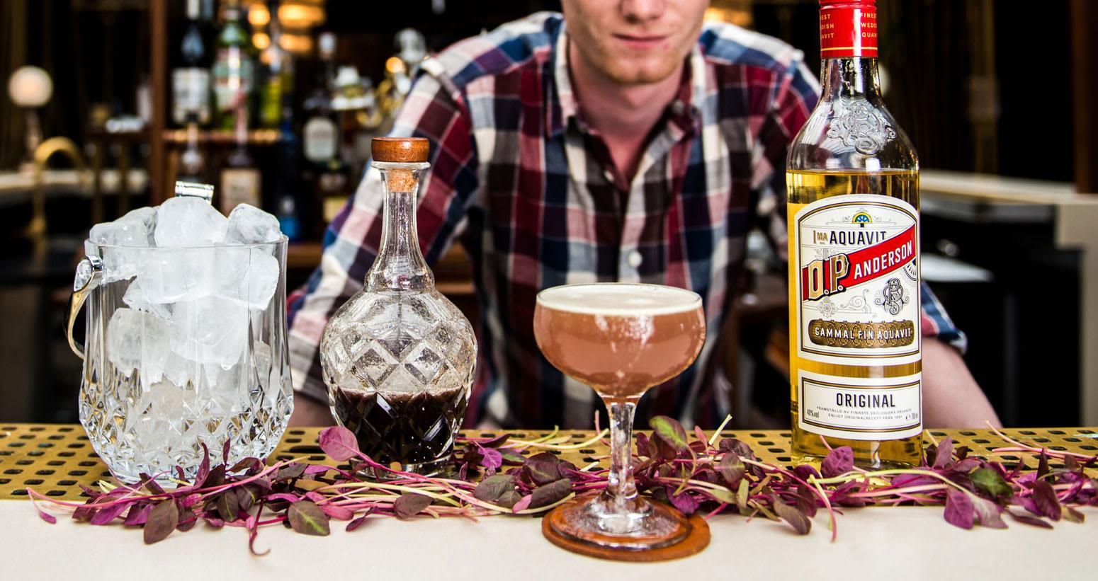 O.P. Anderson aquavit cocktail
