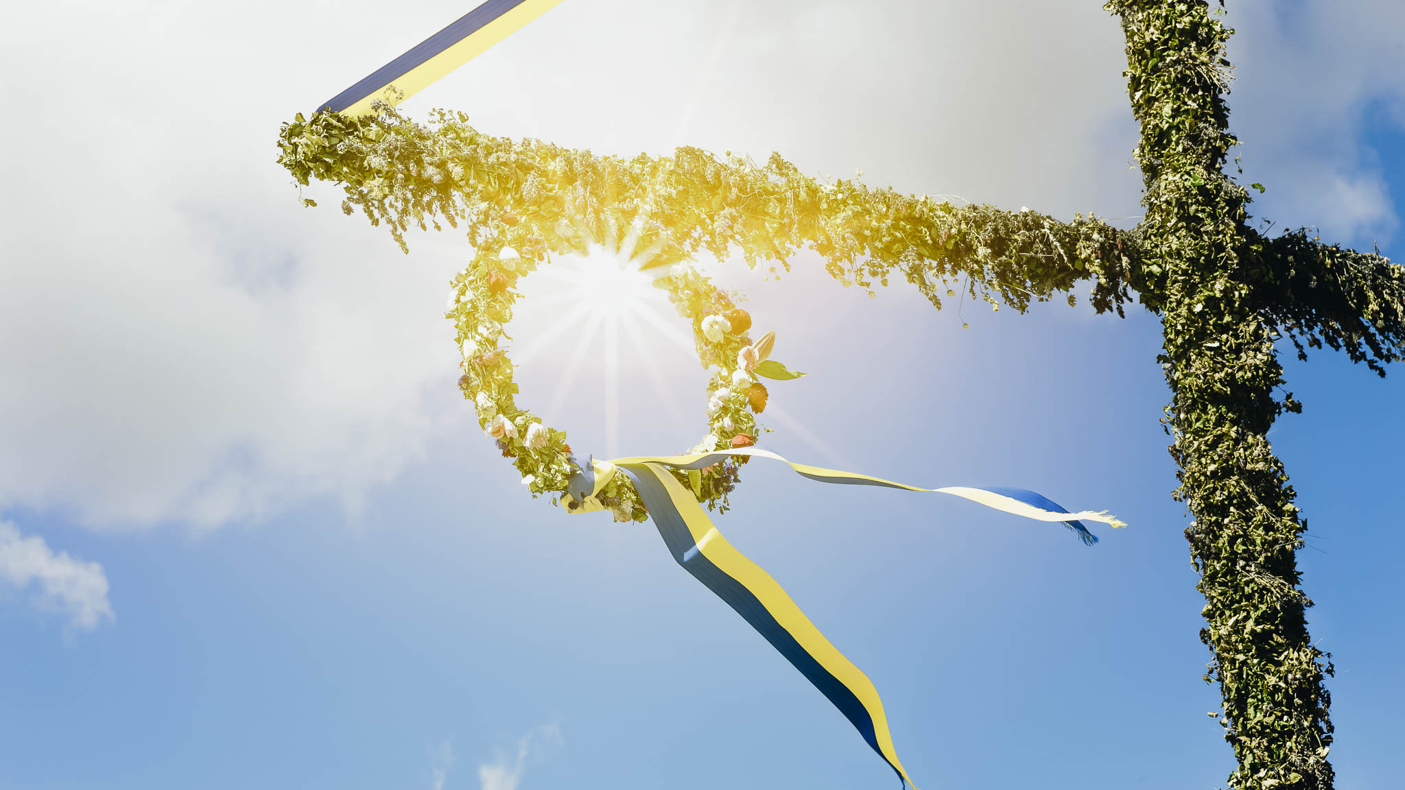 Wreath in sunshine