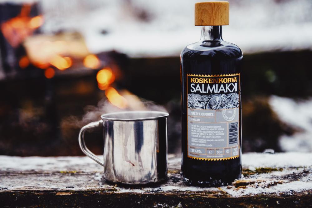 Koskenkorva Salmiakki with a Hot Drink