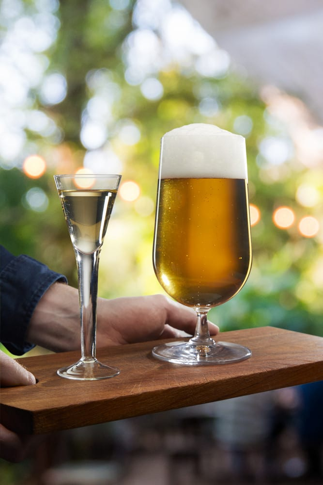 Aquavit as a Beer chaser? - Try O.P. Anderson Aquavit with a glass of beer
