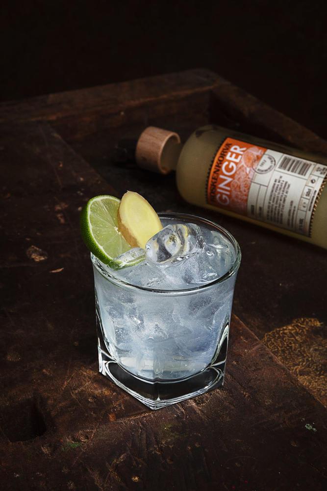 Koskenkorva Ginger Tonic Cocktail