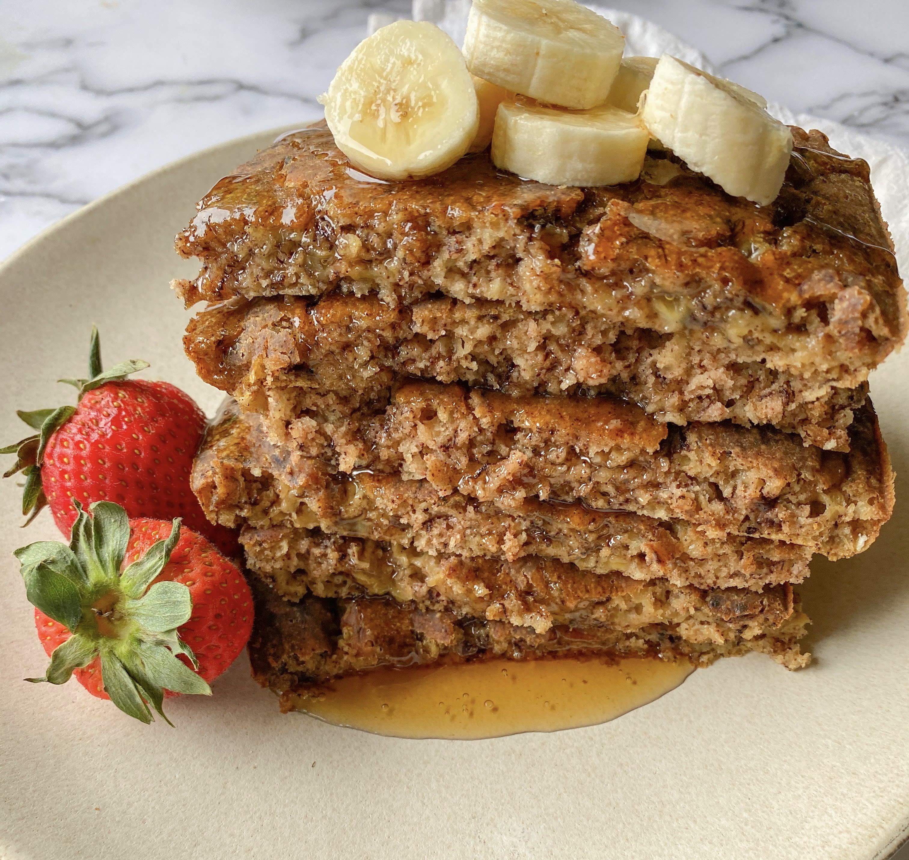 Vegan Sheet Pan Banana Pancakes
