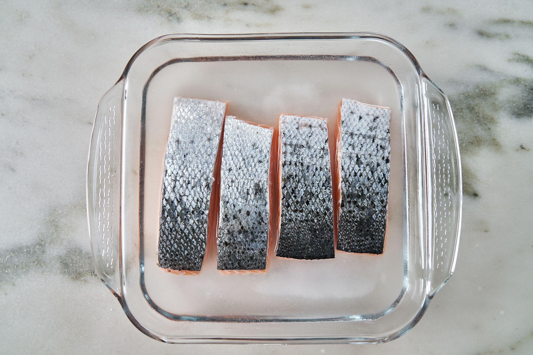 Brine salmon.