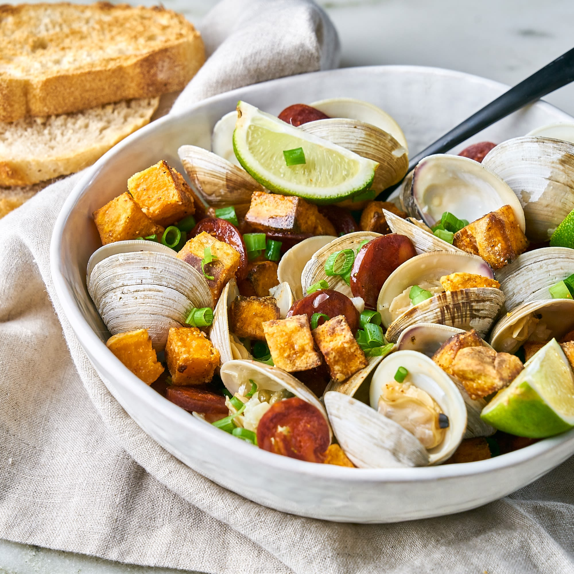 Little Neck Clams and Chorizo