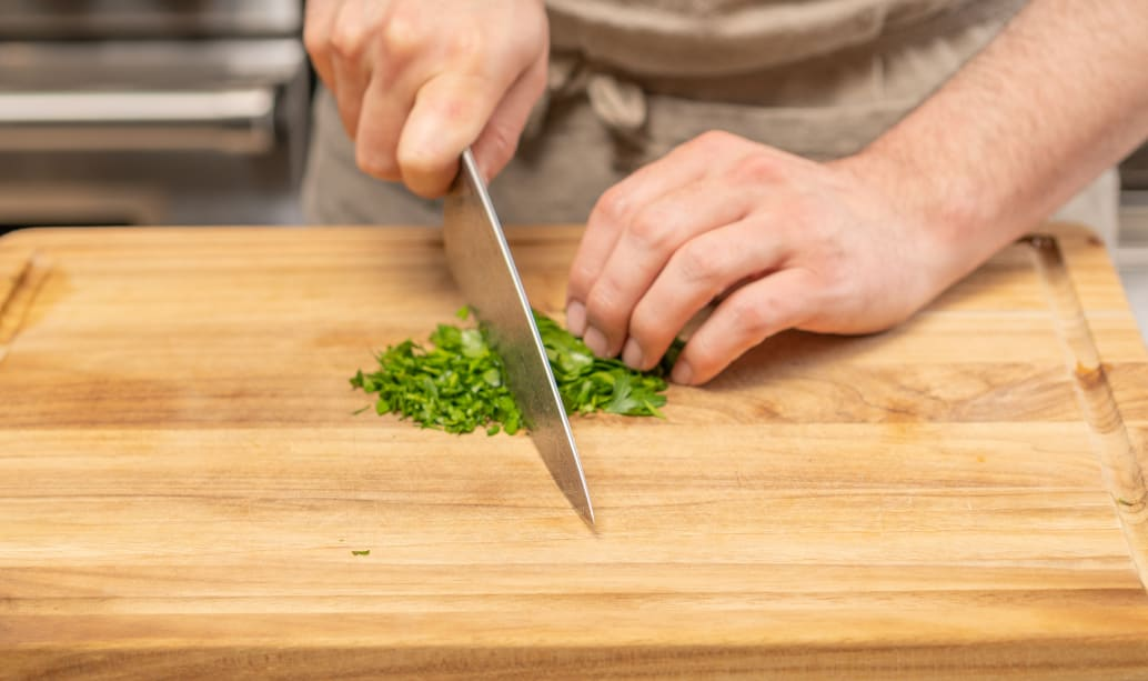 Chop parsley (optional)