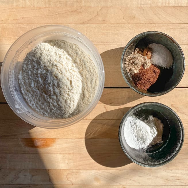 Combine dry ingredients.