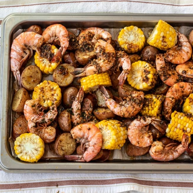 Pour Sauce Over Shrimp Boil