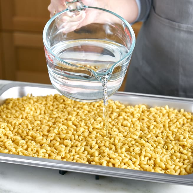 Cover pasta with water