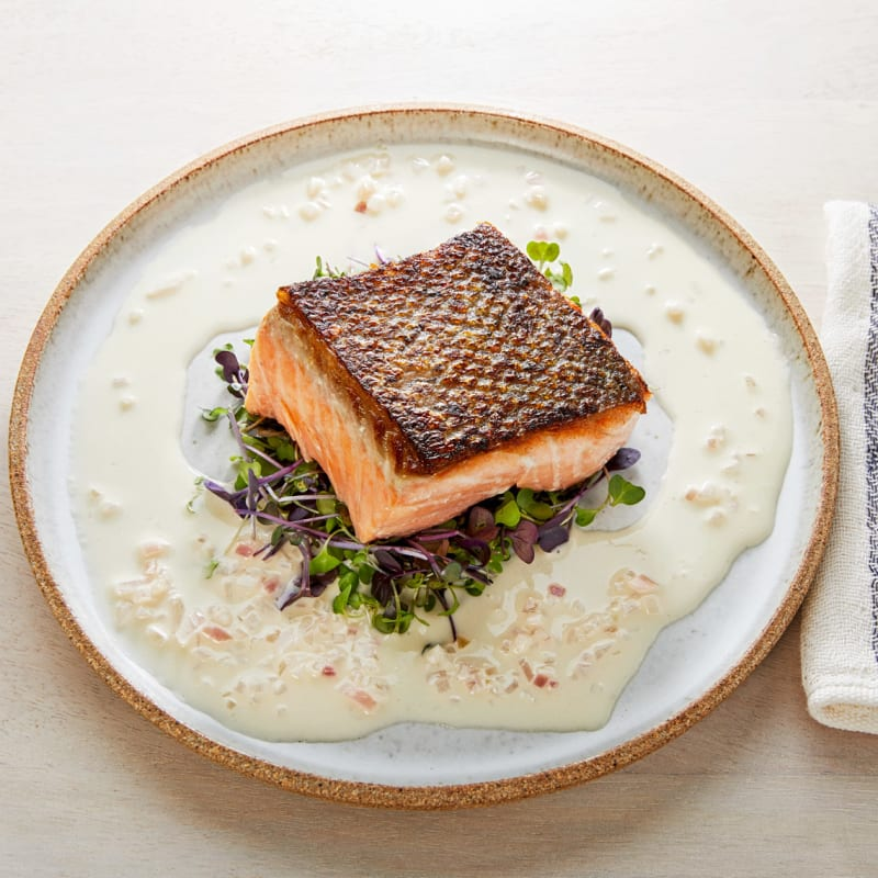 Salmon with Crispy Skin
