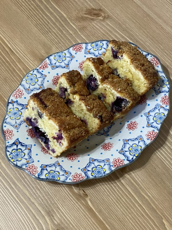 Blueberry Steusel Loaf