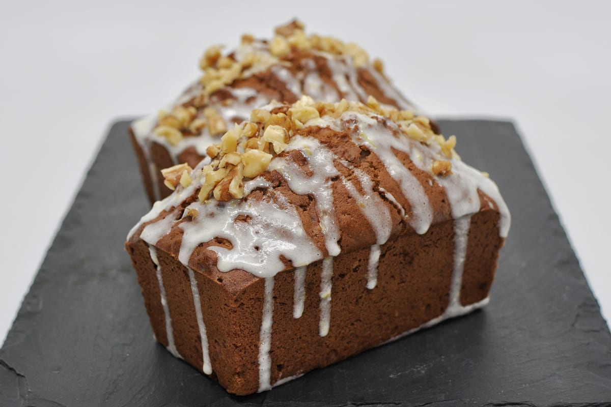 Zucchini Bread Mini Loaves with Lemon Cream Cheese Frosting