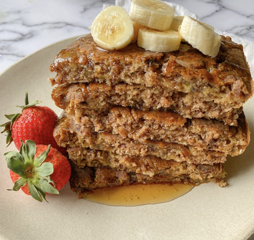 Vegan Sheet Pan Banana Pancakes