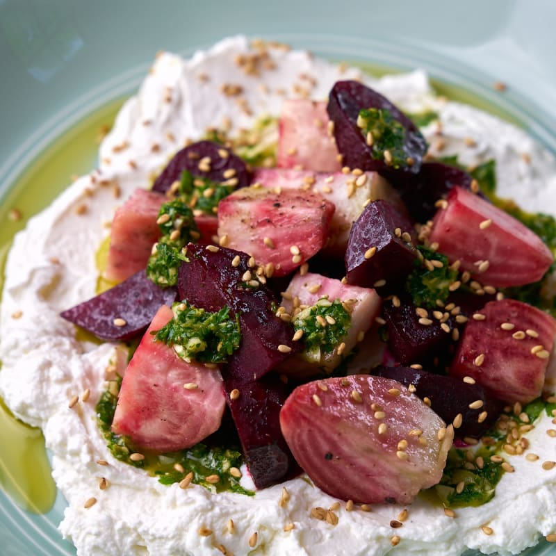 Herb Beets with Labneh