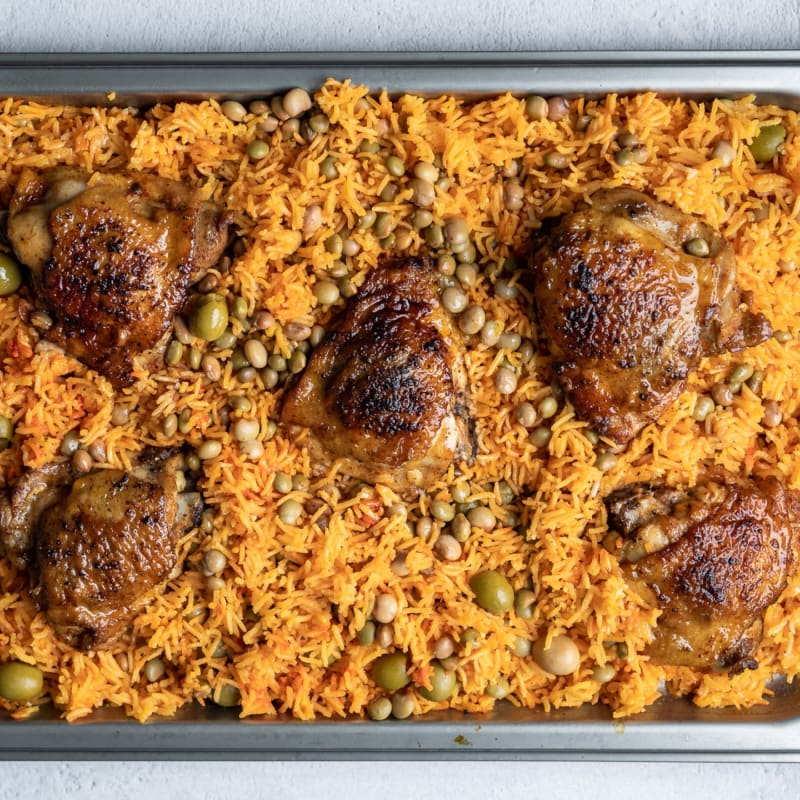 Arroz con Pollo (Puerto Rican Rice with Chicken)