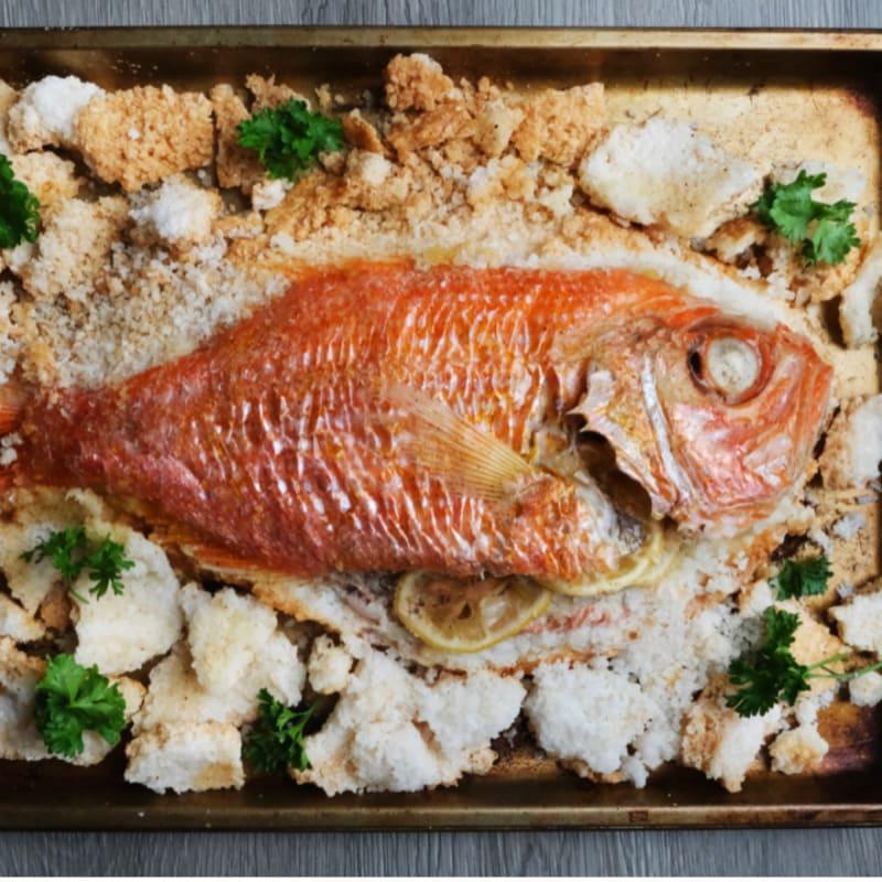 Salt Crusted Whole Fish