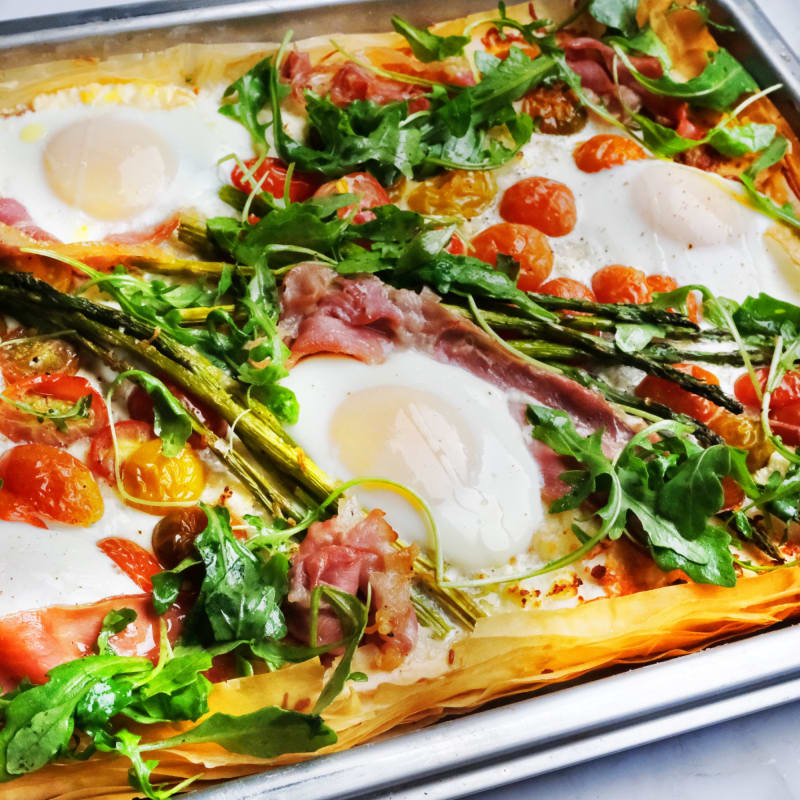 Phyllo Breakfast Pizza