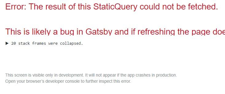 gatsby starter blog theme error in browswer