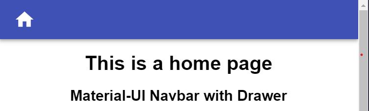 Navbar with home icon