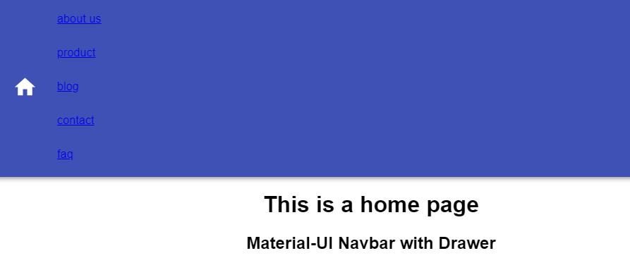 navbar with navigation links