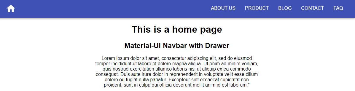navbar space between