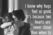 Just hug ..