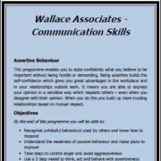 *Wallace Associates - Communication Skills *