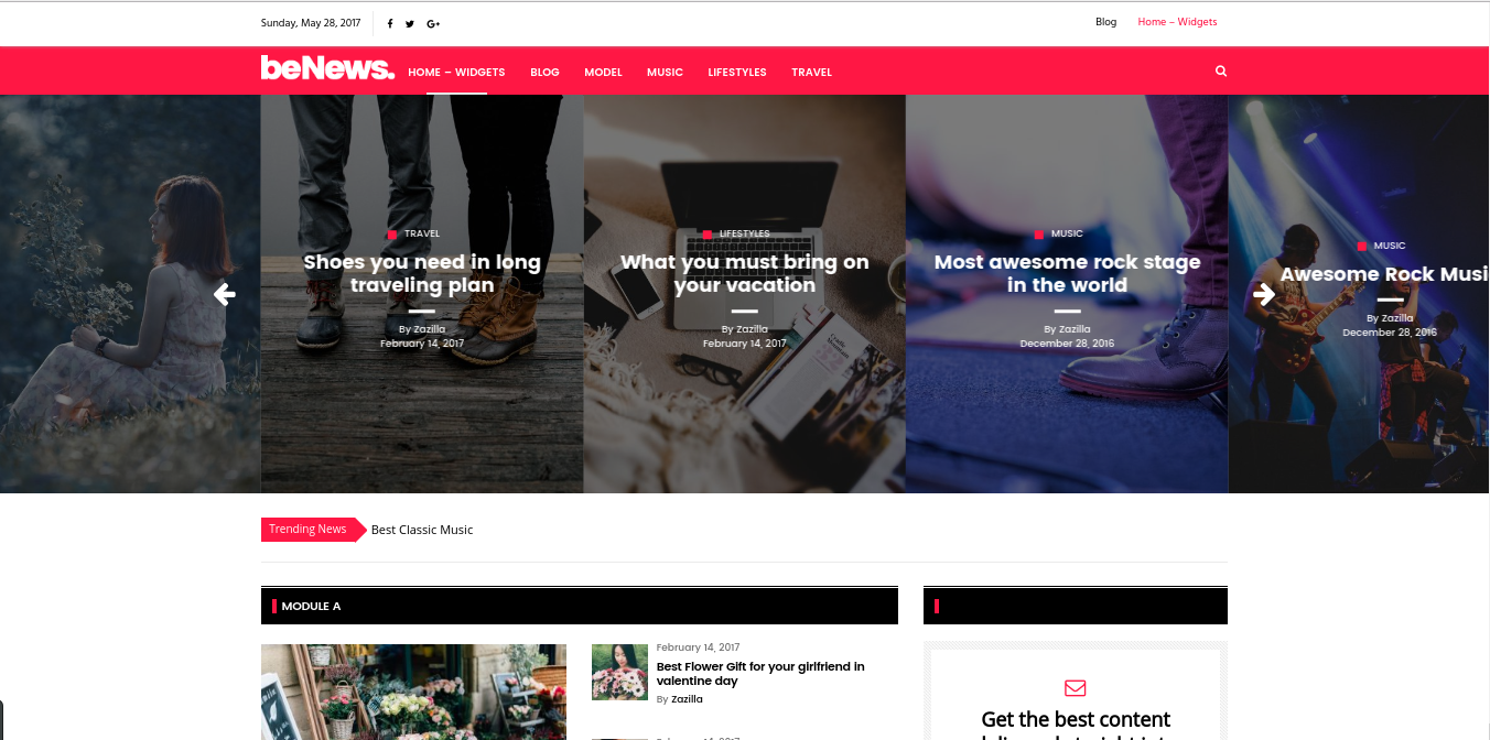 Benews wordpress theme