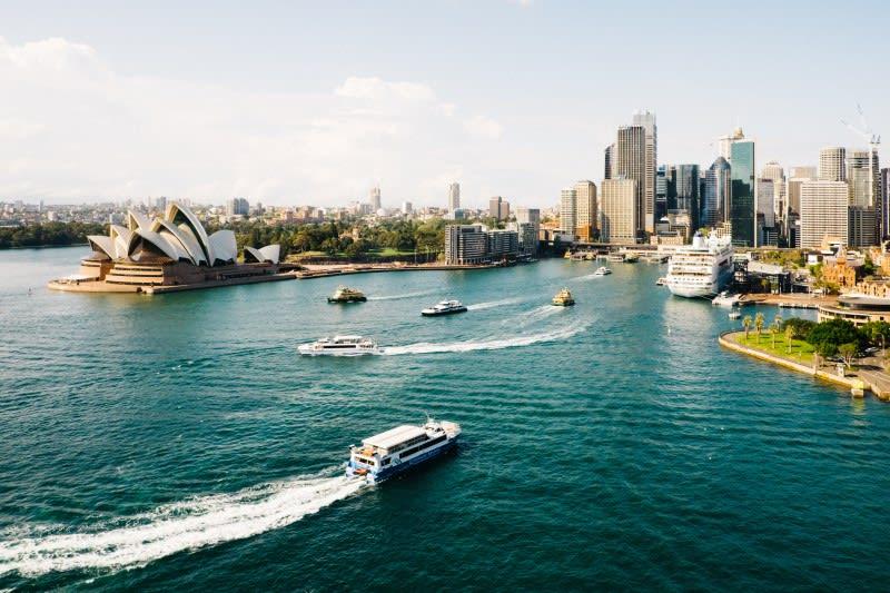 Pobřeží v Sydney