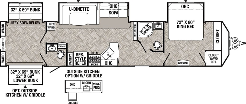 2021 Puma PQB39 42' in Covington, WA : Floor Plan