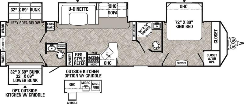 2021 Puma PQB39 42' in Covington, WA : Floor Plan