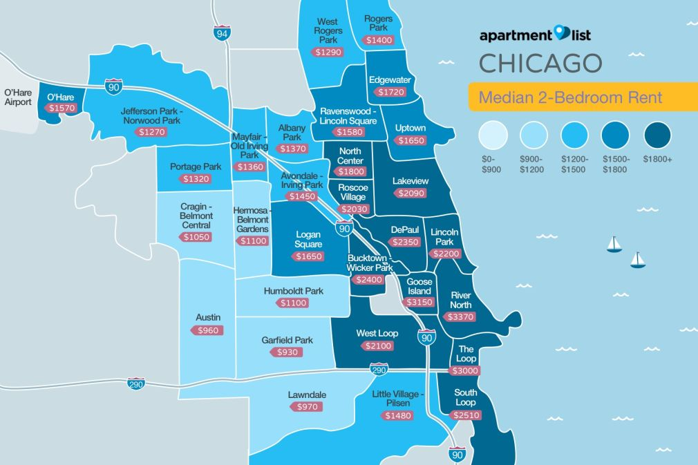 Chicago Neighborhood Price Map