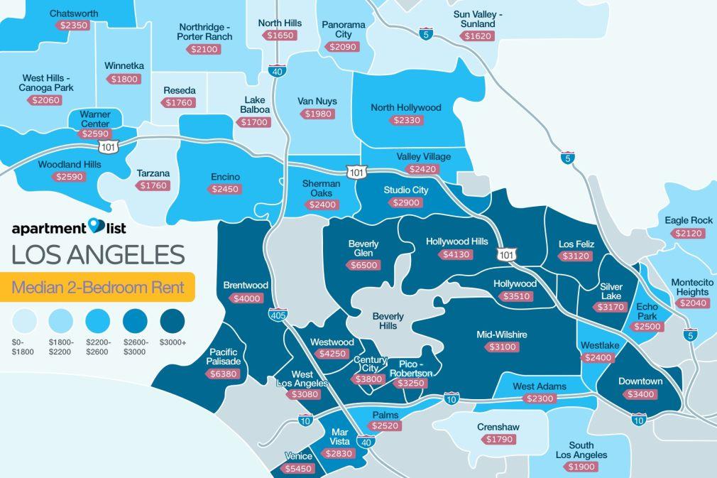 Los Angeles Neighborhood Price Map