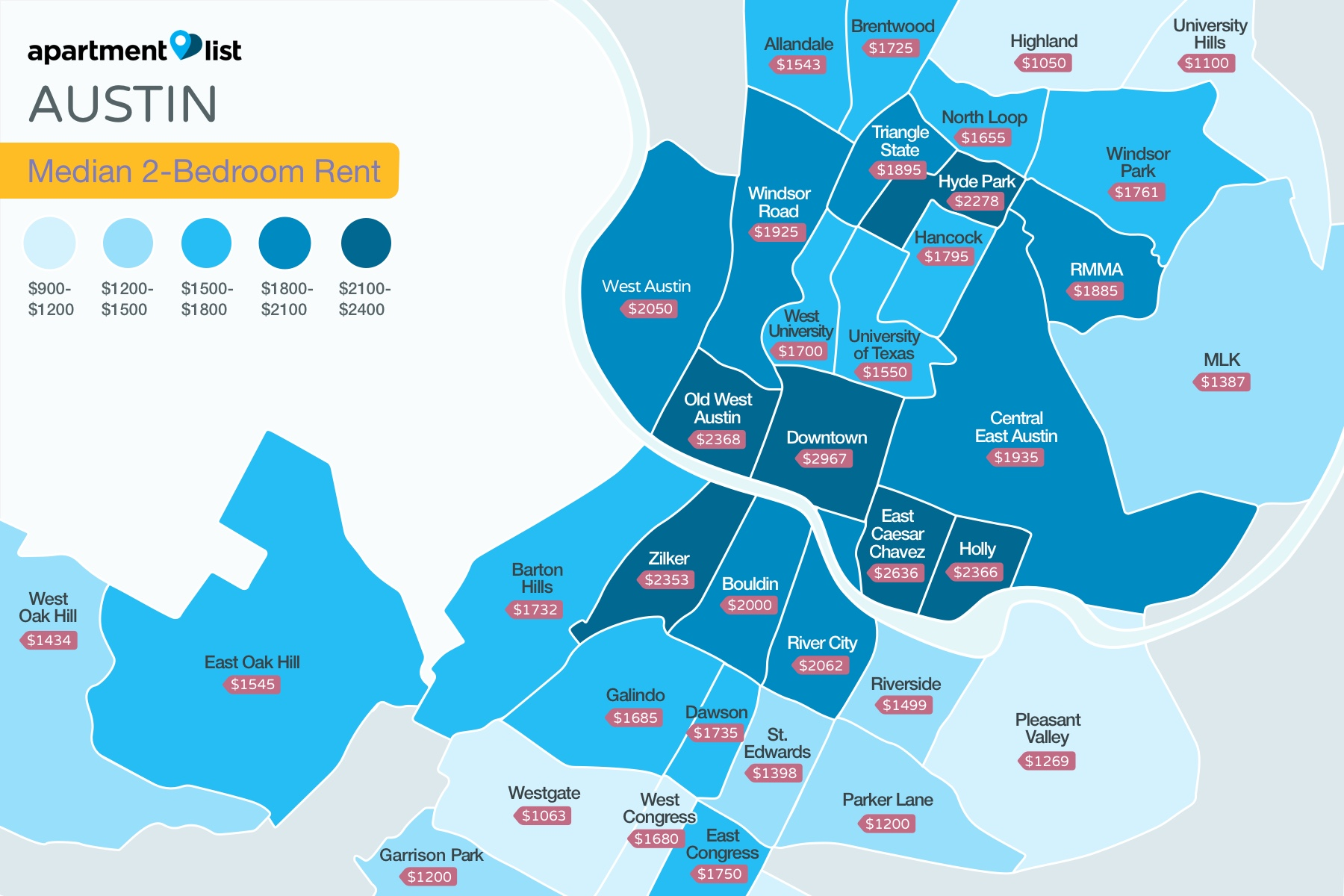 Austin Neighborhood Price Map