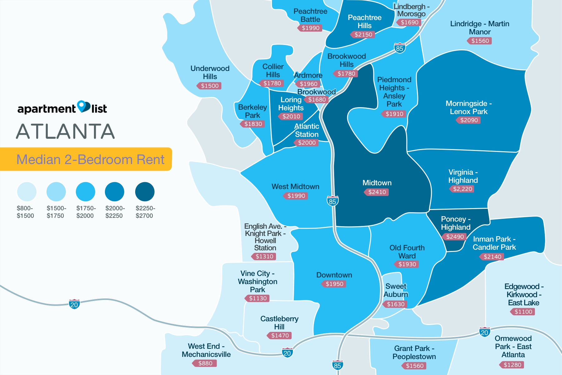 Atlanta Neighborhood Price Map