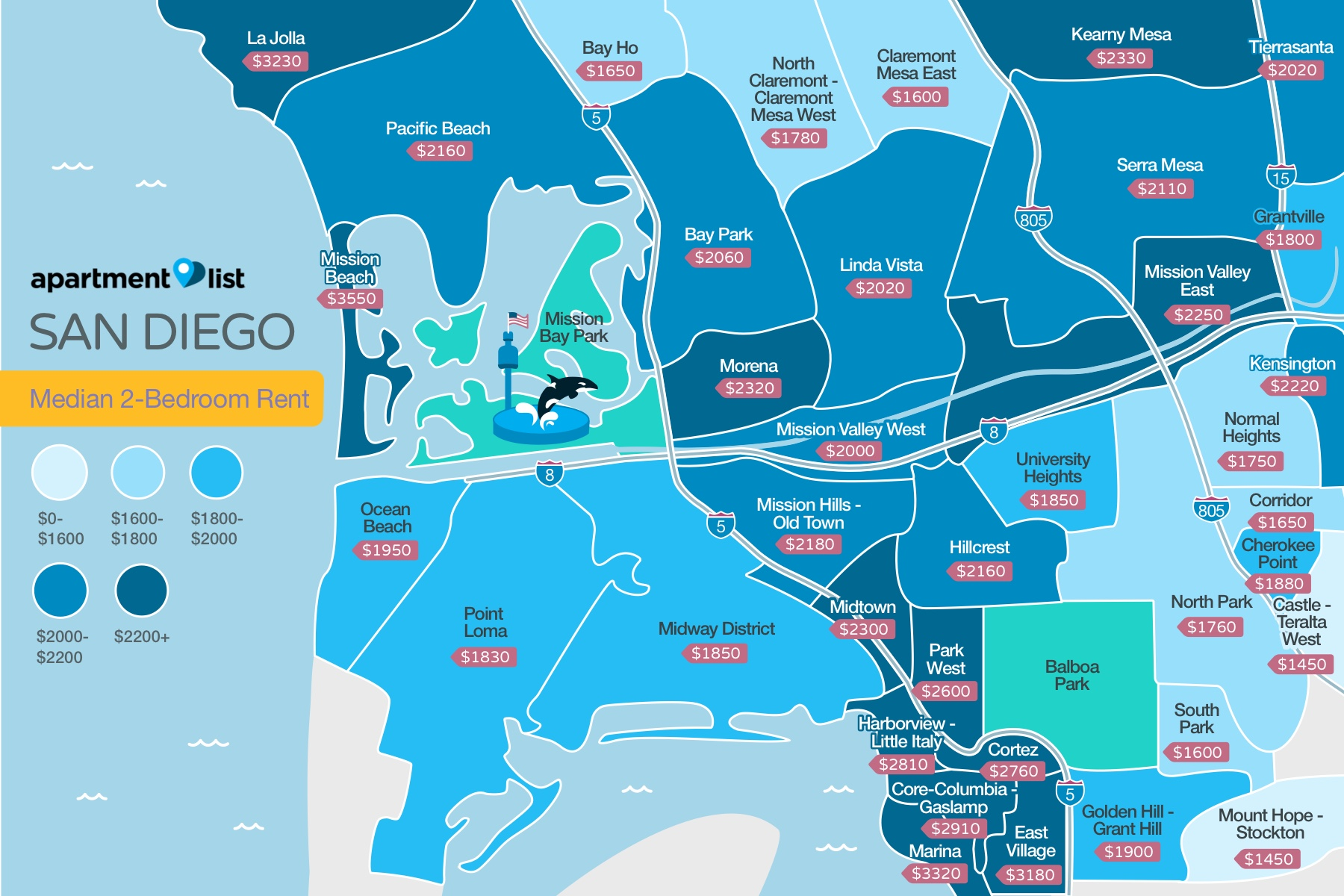 San Diego Neighborhood Price Map