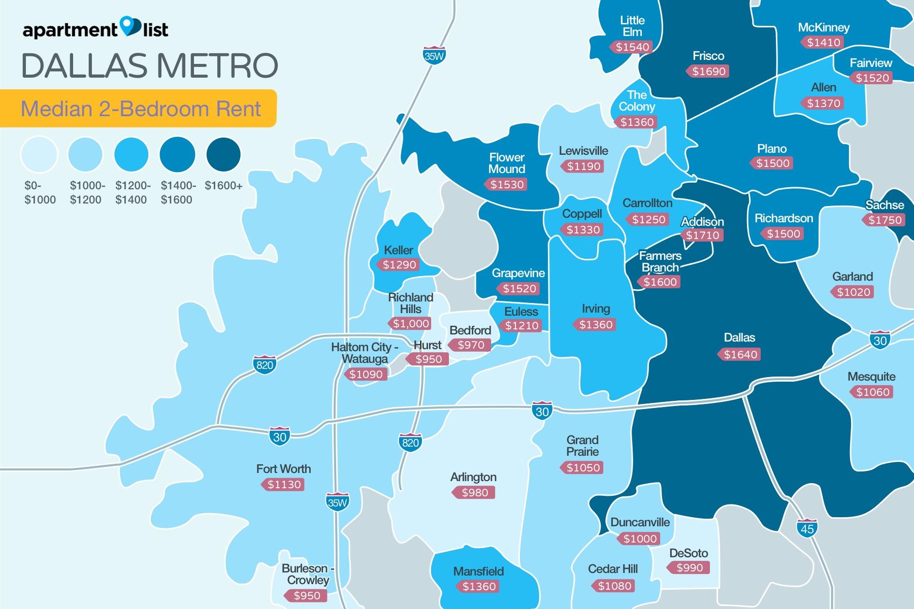 Dallas Metro Price Map
