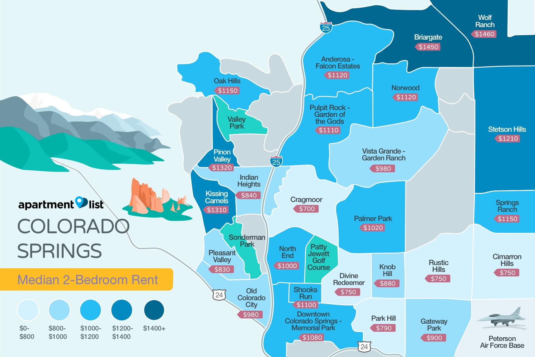 Colorado Springs Rent Map