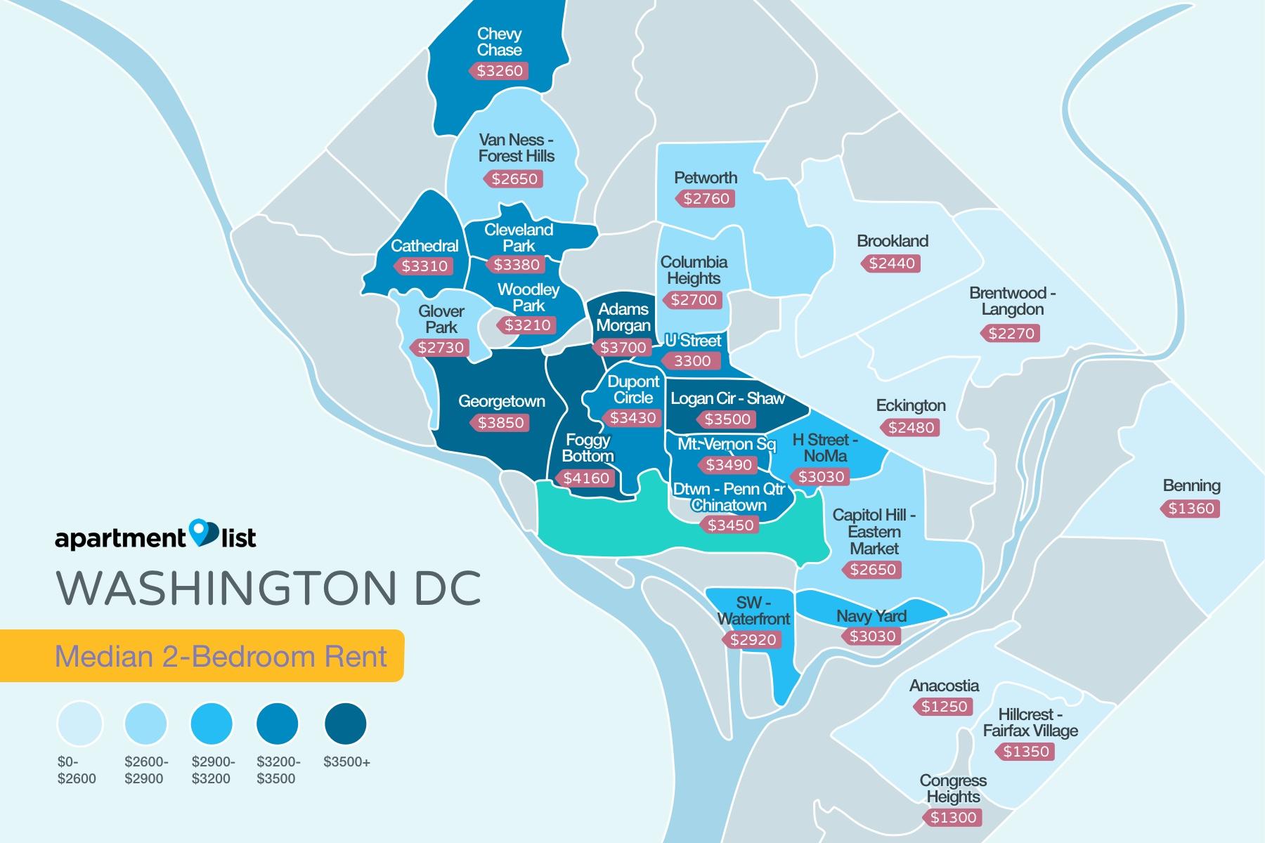 Washington_DC Rent Map