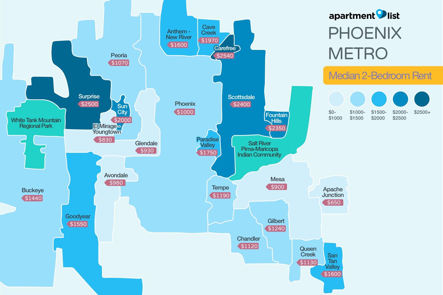 Phoenix Price Map