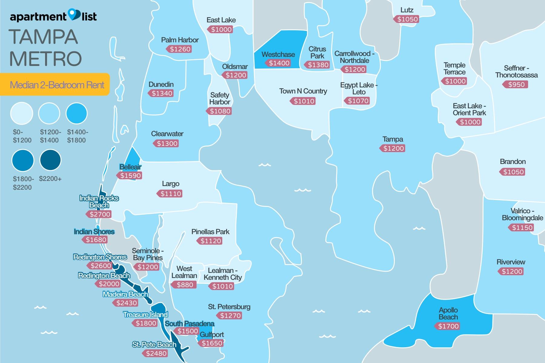 Tampa Neighborhood Price Map