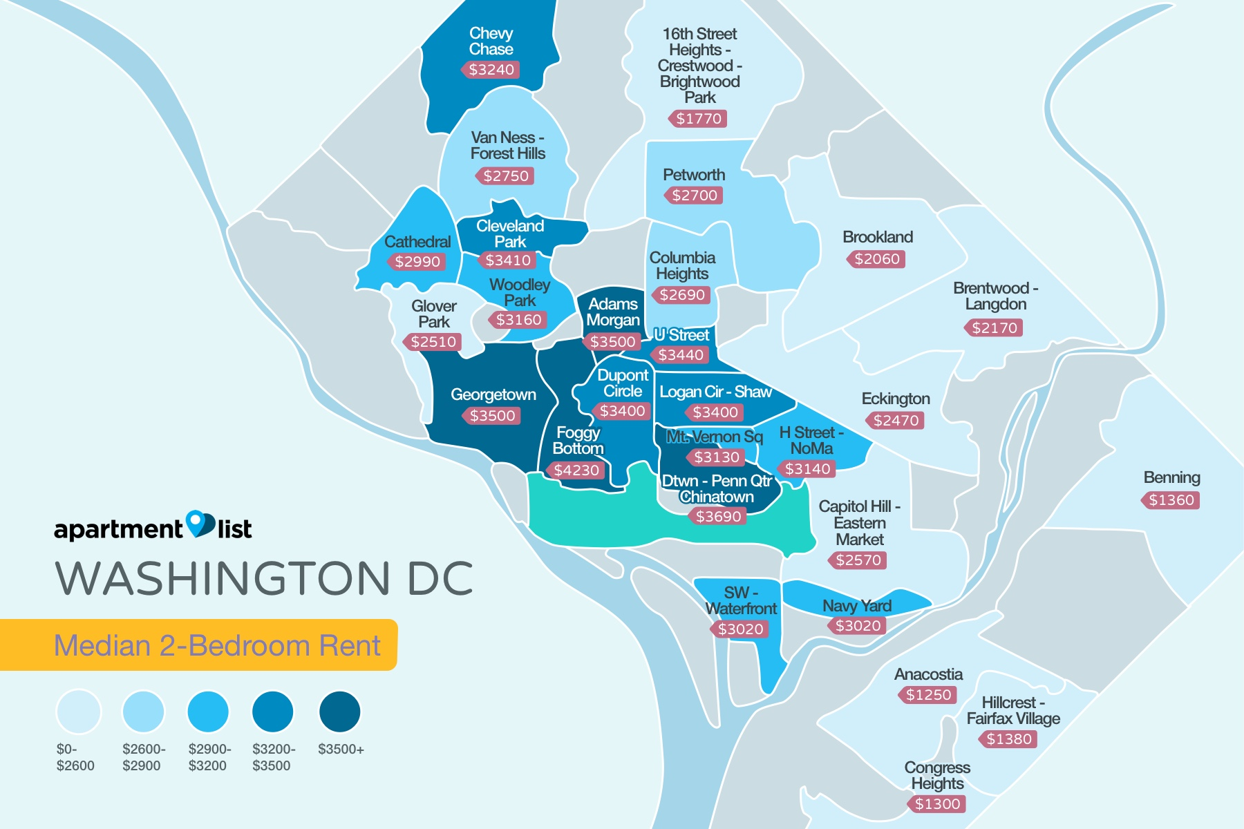 Washington_DC Rent Map